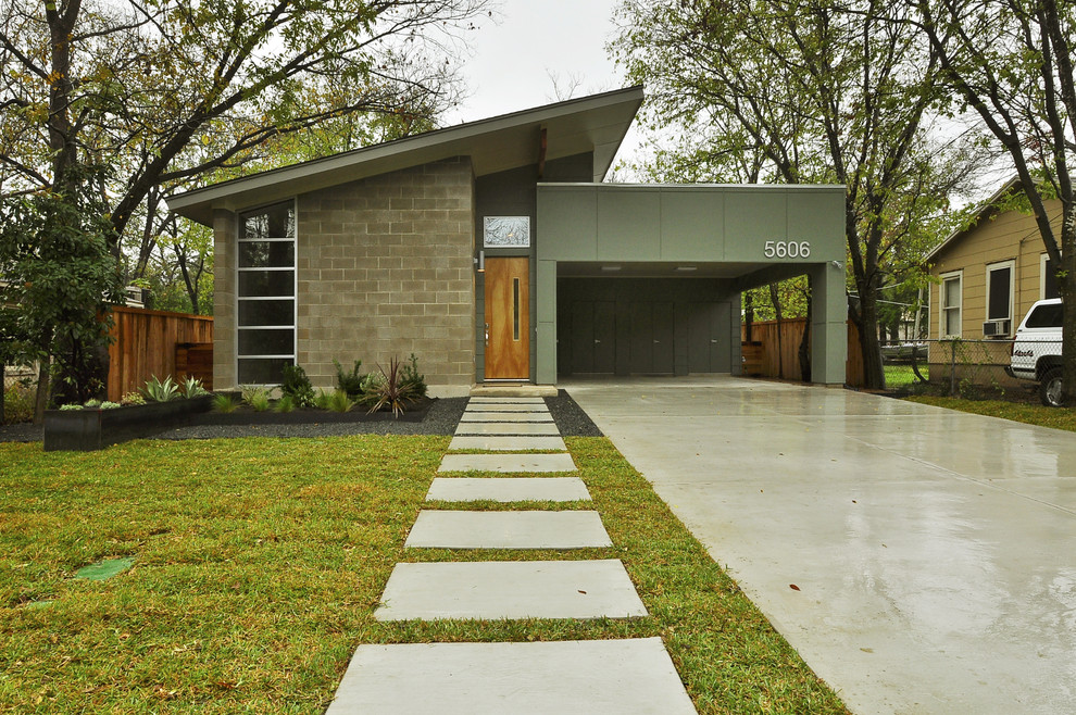 Crestview Doors for Midcentury Exterior with Entrance