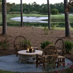 Crooked Creek Golf Course for Rustic Patio with Outdoor Fire Pit
