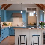 Crown Point Cabinetry for Beach Style Kitchen with Cork Tile Floor