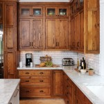 Crown Point Cabinetry for Rustic Kitchen with White Trim
