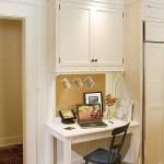 Crown Point Cabinetry for Traditional Kitchen with Custom Desk