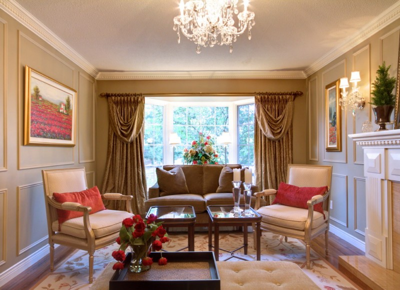 Crown Point Townhomes for Traditional Living Room with Crown Molding
