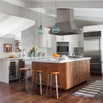 Csl Lighting for Contemporary Kitchen with Blue Pendant Light