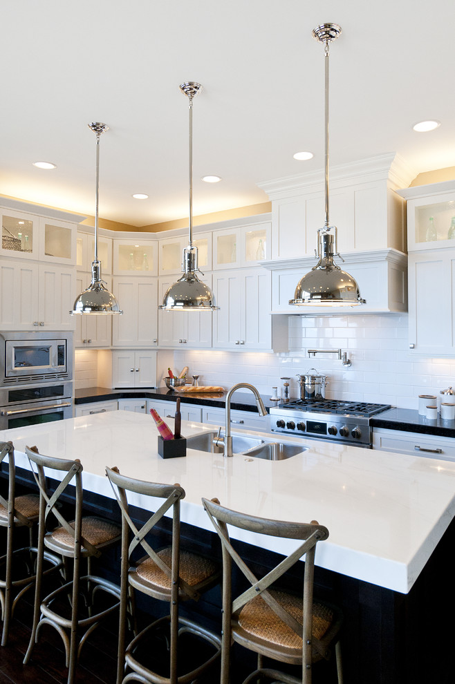 Csl Lighting for Traditional Kitchen with White Counters