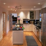 Csl Lighting for Transitional Kitchen with Rug