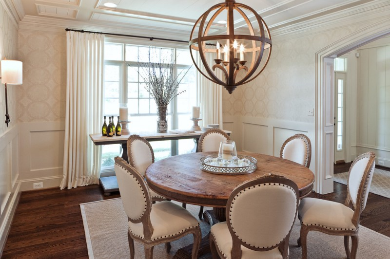 Currey for Transitional Dining Room with Pedestal Dining Table