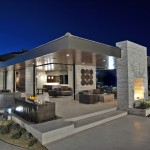 Daltile Las Vegas for Contemporary Exterior with Wood Ceiling