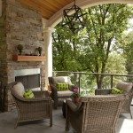 Dania Furniture Portland for Traditional Porch with Outdoor Fireplace