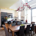 Dania Portland for Contemporary Dining Room with Lighting Fixture
