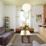 Dania Portland for Contemporary Living Room with Yellow Ceiling