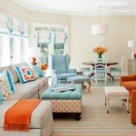 Dania Portland for Transitional Living Room with Striped Rug
