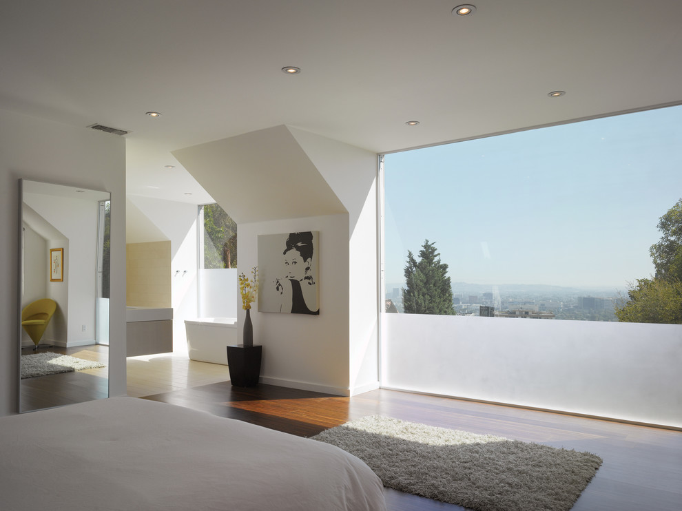 Darkside Window Tinting for Modern Bedroom with White Walls