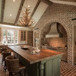 Darling Homes Houston for Rustic Kitchen with Barrel Back Leather Bar Stools