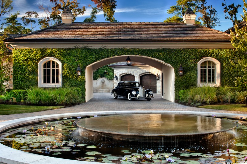 Darling Homes Houston for Traditional Garage with European