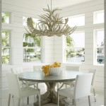 David Weekley Homes Houston for Beach Style Dining Room with Transom Windows
