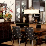 Davids Furniture for Asian Dining Room with Gold Rug
