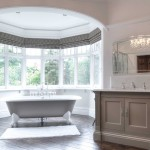 Davids Furniture for Transitional Bathroom with Roman Shades