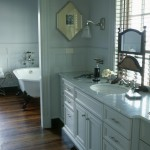 Decora Cabinets for Traditional Bathroom with Claw Foot Tub