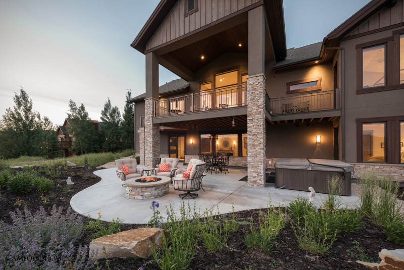 Deer Park Lumber for Rustic Patio with Mountain Home
