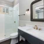 Delta Faucet Warranty for Traditional Bathroom with Chair Rail