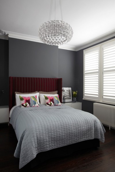 Delv for Contemporary Bedroom with Gray Walls