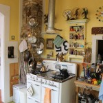 Demolition Depot for Eclectic Kitchen with Coffered Ceiling