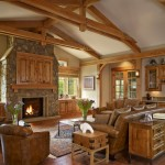 Denver Infill for Traditional Family Room with Rustic Wood