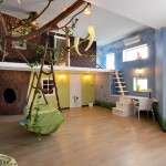 Designers Denn for Contemporary Kids with Wall Treatment
