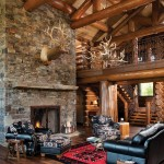 Designers Denn for Rustic Living Room with Rustic Wood Floor