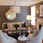 Designers Denn for Traditional Living Room with Mirror