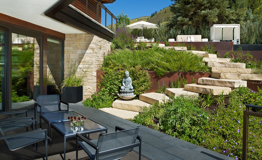 Dewey Furniture for Contemporary Patio with Landscaping