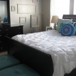 Difference Between Duvet and Comforter for Transitional Bedroom with Leather Ottomans