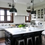 Discover Marble and Granite for Traditional Kitchen with Swing Arm Lights