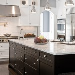 Discover Marble and Granite for Traditional Kitchen with White Subway Tiles