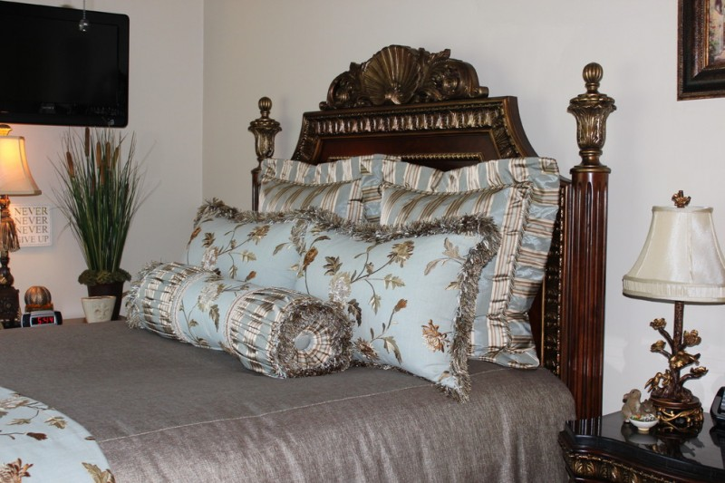 Distinctive Fabrics for Traditional Bedroom with Traditional