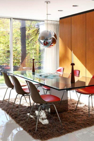 Dlux for Modern Dining Room with Wood Cabinets