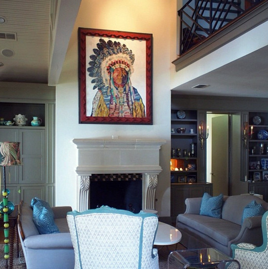 Dolan Geiman for Traditional Living Room with Western