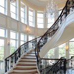 Dominion Electric Va for Traditional Staircase with Ceiling Medallion