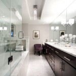 Dominion Electric Va for Transitional Bathroom with Wall Sconces