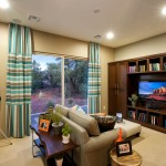 Dorn Homes for Transitional Family Room with Media Storage
