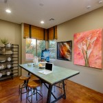 Dorn Homes for Transitional Home Office with Craft Room