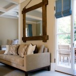Dovetail Furniture for Traditional Living Room with French Doors