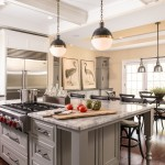 Dovetail Furniture for Transitional Kitchen with Wall Ovens