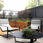 Dox Furniture for Contemporary Patio with Gray Wall