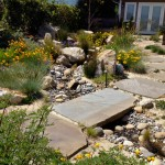 Drainage Ditch for Contemporary Landscape with Steps