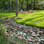 Drainage Ditch for Mediterranean Landscape with Aquascape