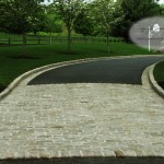 Driveway Apron for Traditional Exterior with Landscape Design Build