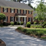Driveway Apron for Traditional Exterior with Portico