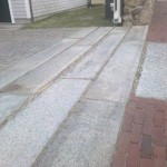 Driveway Apron for Traditional Landscape with Granite Pavement