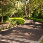 Driveway Apron for Transitional Landscape with Ornamental Grasses